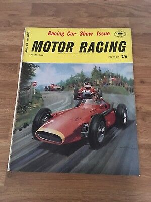 Motor Racing Magazine Cover From January 1962 With Ferrari's On