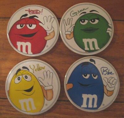 Are You a Well-Rounded M&M's Fan? Set Ceramic Galerie Coasters