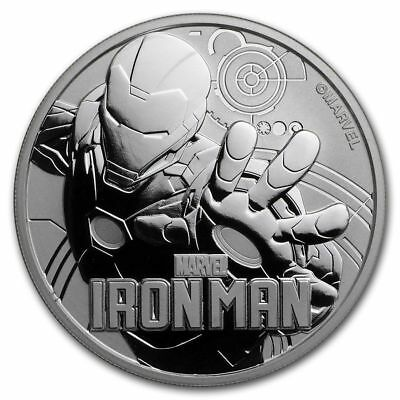 2018 1 oz Tuvalu Silver $1 Marvel Series Iron Man (In Capsule) BU
