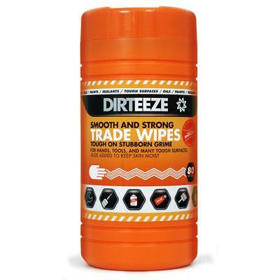Dirteeze Smooth & Strong Trade Wipes Dispenser Tub 300x200mm DZSS80 [80 Wipes]