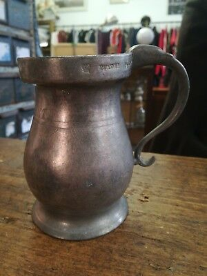 V And R 1890 Dundee Half Pint Metal Jug