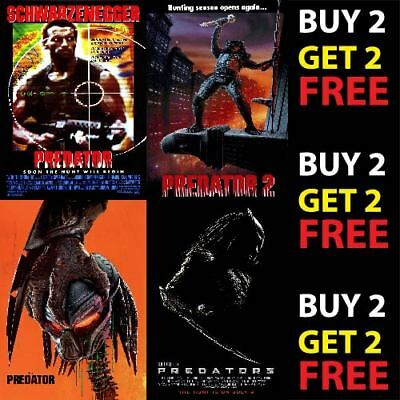 PREDATOR FRANCHISE HORROR MOVIE FILM POSTERS A4 - A3 Prints 300gsm Paper/Card