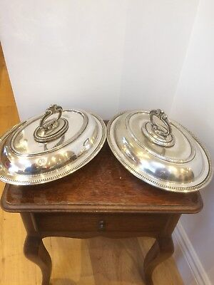 Two Silver Plated Tureen's