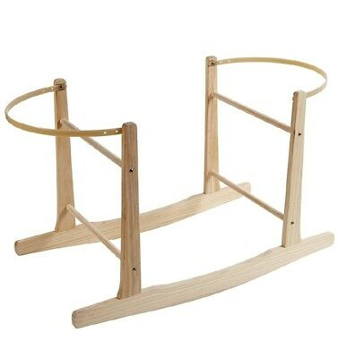 NEW Baby Crib Wooden Pine Moses Basket Rocking Stand