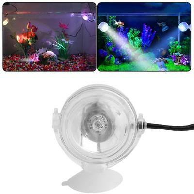 Aquarium Fish Tank Submersible LED Spotlight Lighting Underwater Plug BG