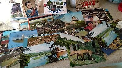 Lot of over 100 Antique & Vintage Postcards,1900s-1970s. Used And Unused !!