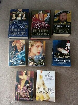 Job Lot 8 Fiction Books By Philippa Gregory. (2 Are Hardback) Deliver Or Collect