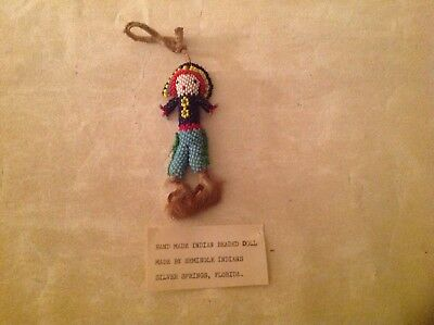 Old Seminole Indian BEADED Doll Very Nice Quality Silver Springs Florida.