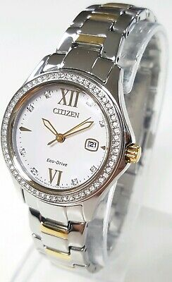 FE1144-85B Citizen Women's Quartz Stainless Steel Two-Tone Watch NWOT+SHIPS FREE