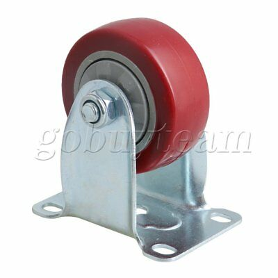 75x30x102mm Red Metal & Plastic Trolley Single Axis Directional Casters