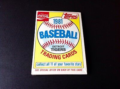 1981 Topps Baseball Coca-Cola Detroit Tigers Unopened Pack Sealed