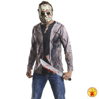 Friday the 13th: Jason Voorhees Kostüm-Kit (Hemd, Maske, Machete)