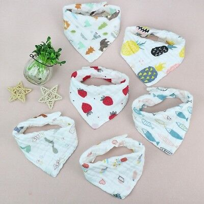 Infant Baby Boy Girl Bibs Feeding Saliva Fruits Pattern Scarf Absorbent Towel