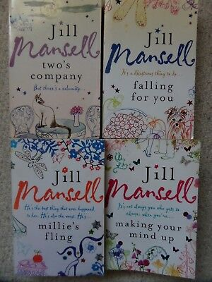 JILL MANSELL BUNDLE OF 4 x CHICK LIT PAPERBACK BOOKS - FALLING FOR YOU