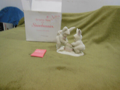 "Department 56 Snowbunnies 1995 Retired ""I'm Teeter You're Totter""-Porcelain-2620"