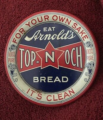 Arnold's Top-Noch Bread.Tip Tray- Early 1900's. !!