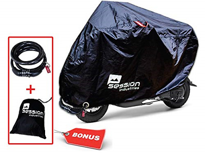 Motorcycle Cover For Moped Scooter Waterproof Outdoor Bike Storage With Bonus UV