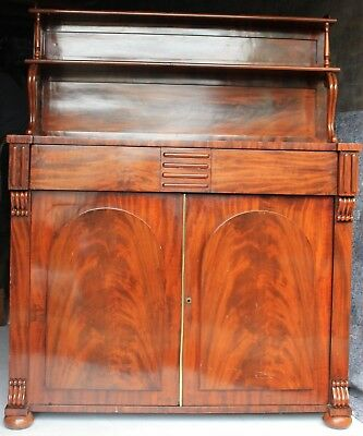 Antique William Iv Magohany Chiffonier Sideboard Drinks Cabinet