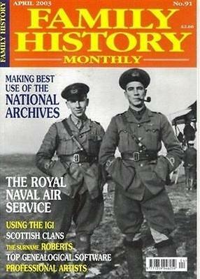 FAMILY HISTORY magazine Apr 03 Coat Arms KEITH Surname ROBERTS Genealogy