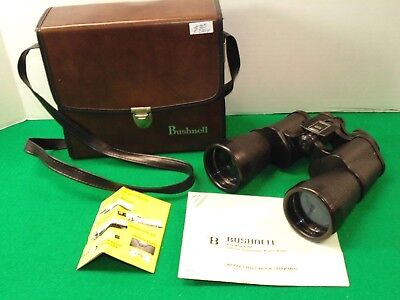Vintage Bushnell Ensign Binoculars - 7x50 Wide Angle w/ Carrying Case - NCA9080