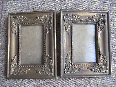 A Pair Of Highly Decorative Antique Vintage Miniature Portrait Picture Frames