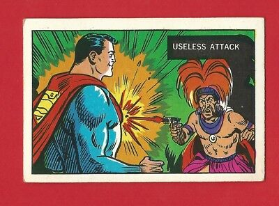 TRADE CARD - A & BC  - SUPERMAN IN THE JUNGLE 1968 - CARD No. 32         (LG01)
