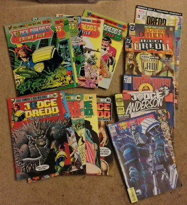 Judge Dredd Crime File 1,2,3,4,5 + Judge Child Quest miniseries COMPLETE+ extras