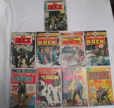 DC Comics Our Army At War/Sgt. Rock 1974 Lot: 263,264,291-293,295,300,301,303 NR