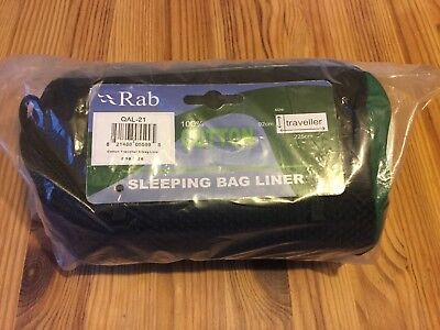 Rab BNWT 100% Cotton Traveller Sleeping Bag Liner One Size 225cm X 92cm