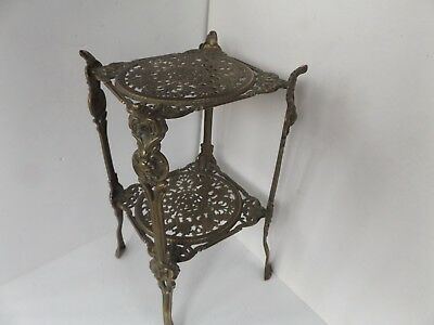 Vintage Solid Brass Occasional Table