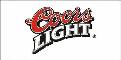 COORS Light FLAG BANNER SIGN beer LIMITED 4X2 FEET!