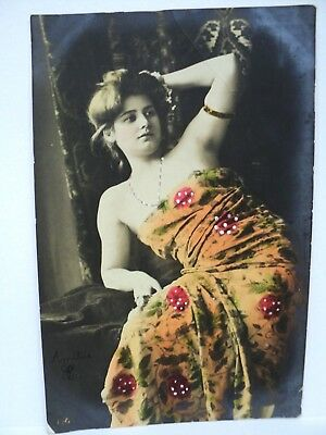 VINTAGE CPA DANSEUSE ACTRICE COURTISANE A IDENTIFIER  c. 1904