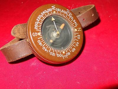 WWII US Army 101st Airborne Paratrooper Taylor Wrist Compass & Strap IDENTIFIED