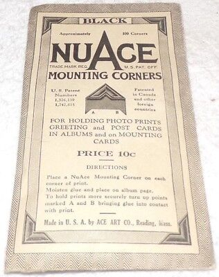 Vintage 1953 Package of Nuage Mounting Corners