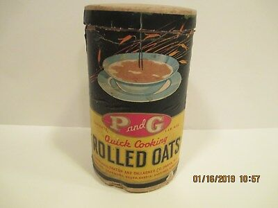 Paxton Gallagher Rolled Oats Cardboard Container Omaha