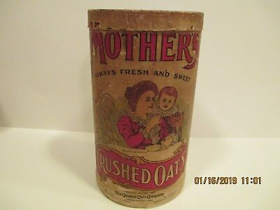 Vintage Mother's Crushed Oats Cardboard Canister - Quaker Oats Co.