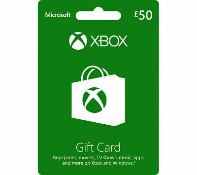 MICROSOFT Xbox Live Gift Card - £50 - Currys