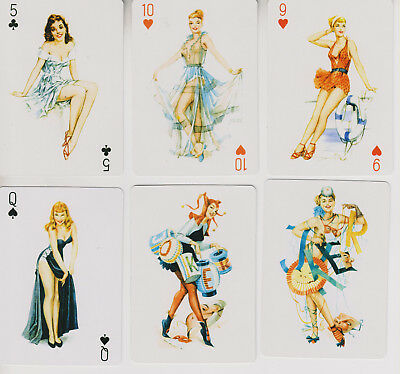 55 Different Pin Ups- Playing Cards
