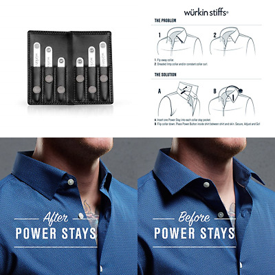 Power Stays Special Edition Travel Set Assorted Size Magnetic Collar In BLACK Le