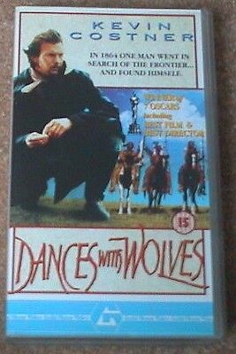 1990 Dances With Wolves (Kevin Costner) Mary McDonnell Graham Greens VHS Oscars