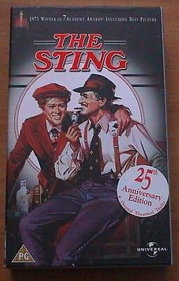 1973 The Sting (George Roy Hill) Paul Newman Robert Redford (VHS) Oscars