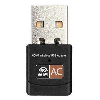 Rete USB Wireless Adattatore Wifi Integrato Antenna 600Mbps Web Surf Dongle