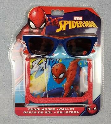 Marvel Spider Man Wallet and Sunglasses Gift Sets UV Sun Safe Summer Holiday
