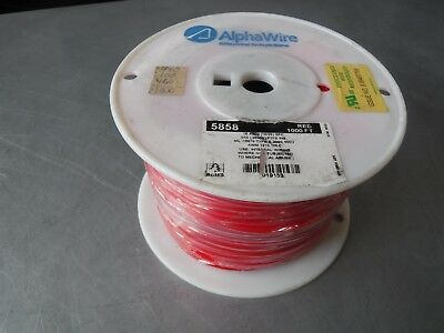 New 1000' Awg 16 Silver Coated Stranded Cu Wire Alpha Wire 5858 200C Ptfe 600V