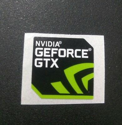 Pegatina Nvidia Geforce GTX Sticker decal metalic