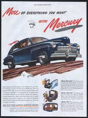 1947 Mercury ad blue Mercury 2-door Sedan