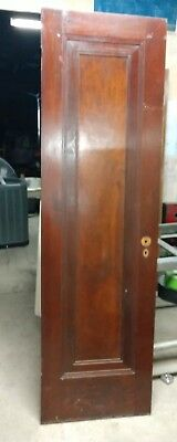 "Reclaimed Antique single panel pine Door 23 5/8"" x 80. Original finish, clean."