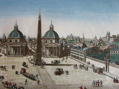 Rome Roma Italy Italia c.1760-70 Europe city view vue d'optique print