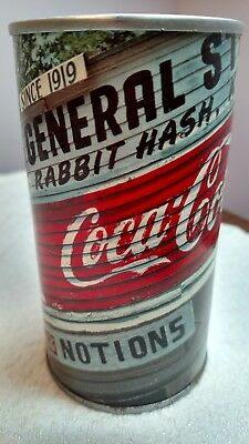 Rabbit Hash KY- General Store ~Coca-Cola~Pencil Holder- Tin Can