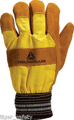x2 Pairs Delta Plus Venitex VE240 Yellow Washing Up Rubber Gloves Marigolds